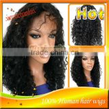 Deep Wave #1B Front Lace Wigs / Full Lace Wigs Brazilian Human Hair Natural Hairline For Black Women IN STOCK!!