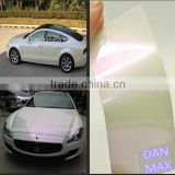 Good Quality Air Bubbles Free 1.52*20m/Size Pearl White Chameleon Vinyl Sticker Material For Car And Bus
