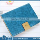 Fashion Blue Color Snake Wave Skin Kaiyue Brand Fashion Leather Stand Cover for iPad mini