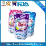 Flexible stand up pouch for washing liquid packaging/Laundry detergent plastic bag                                                                         Quality Choice
