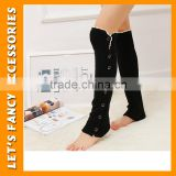 Black leg warmer wholesale available sexy leg warmer Hollow Knit Lace Button Boot Sock Leg Warmers PGLW-0002