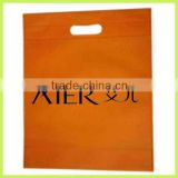 2014 printed fashion non woven bags Punching bag gushing bag file bag with die cut handle