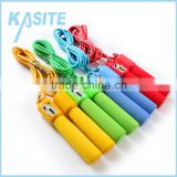 2.7m*5mm fitness counting cotton jump rope, PP handle with single color foam