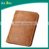 Gnuine leather Men's Genuine Cowhide Leather Vintage Bifold Wallets factory in china