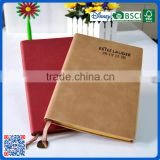 Factory supply refillable leather cover hardcover notebook with metal bookmark tag for gifts                                                                         Quality Choice