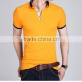 Nice cotton couple tshirts for lovers&men's&USA market fashion collar shirts men&designer tshirts in China