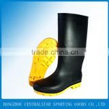 Men pvc knee high safety rain boots