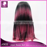Crazy multi-color celebrity wig synthetic full machine made wig with free parting in ctock