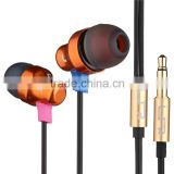 electronic new products earphones headphones with mic latest fashion cell earphone for iphone, earphone with braided wire