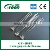 Bended or straight Copper pipe heating element plated with silver or nickel