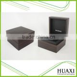 Matte Dark Brown Wooden Watch Box with Pillow