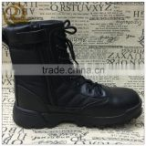 Wholesale black leather combat army boots tactical boots swat