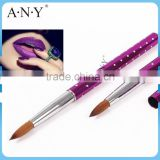 ANY Purple Metal Nails Beauty Art Care Nail Acrylic Kolinsky Brush                                                                         Quality Choice