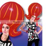 Party crazy inflatable wig cap for brazilian
