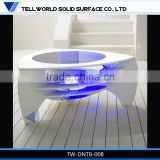 Modern living room furniture centre glass table 2014 newest