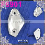 Feilang brand 2014 hot sale Ax type fancy stone with flatback