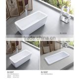 2014 new products Seasummer Acrylic cast stone bathtubs for hotel project with mix valve shower