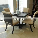 Environmental friendly lacquer solid wood leg love making restaurant chair