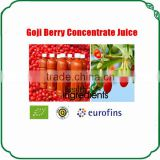 International profesional purchaser supply natural goji juice company goji concentrted juice in bulk