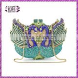 colorful sweet swan evening clutch bags party bags crystal ladies clutch purses (88141A-DB)
