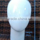 RH-MH03 height 34cm dia. 62cm 191 fiberglass abstract female egg head mannequin egg face bright white