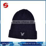 Good quality acrylic jacquard embroidery wholesale knit beanie/knitting hat/beanie hat