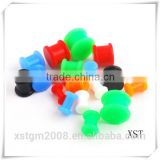 silicone ear tunnel plugs piercing beautiful jewelry set