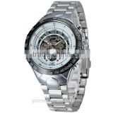 sewor silver stainless steel mens automatic wrist watch casual bracelet mechanical watch