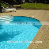 good price wood plastic composite decks / bamboo plastic composite deck / extruded plastic composite decking