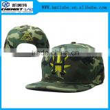 High quality custom your own design camouflauge fabric twill cotton hemp snapback hat wholesale