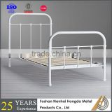 White Convertible Bed Antique Copper Effect iron bed