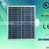 Using UV-Resistant Silicon Cells , 30W Polycrystalline Solar Power Panel