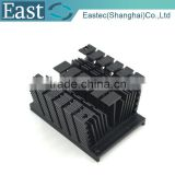 Al 6063 anodize black aluminum profile extrusion heat sink