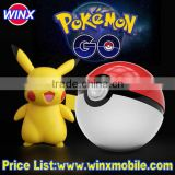 Pokemon Go Pokeball power bank 12000 mAh dual USB LED Quick phone Charge Powerbank for Mobile phones AR game