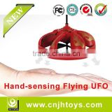 Cheap & Fun Flying UFO Best Promotional Toys Infrared Sensor RC Flying Saucer Hovering LED Flashlight