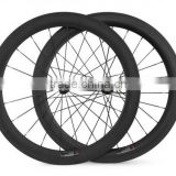 Bicycle wheel rims, tubular 60mm Depth 700c road bicycle full carbon rims
