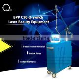 Guangzhou bpp1064nm 532nm Q switch nd yag laser pulsed dye laser for tattoo removal vascular and skin rejuvenation