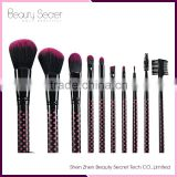 10pcs makeup brush cleaner silicone face cleaning brush cosmetic set eyebrow brush wave point