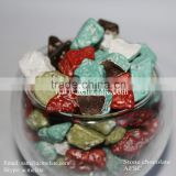 HACCP popular and cheap stone shaped chocolate candy in bulk