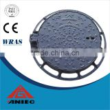Round square Ductile iron cast iron manhole cover and frame grating EN124 B125 C250 D400