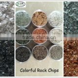 Colorful White,black,Green, Red rock chips for texture coating paint Stone