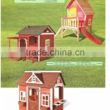 Outdoor Wooden Children Playhouse for Kids Game Slide