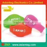 2014 rfid silicone write on id bracelet/id tag for swimming pool