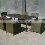 Rattan Dining Set for Six People Patio Sectional