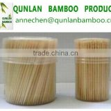 Round bamboo skewers and toothpicks