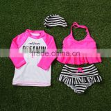 kids children branded swimsuit swimwear beach wear sun wear bikini bathing suit stock sun wear factory manufacturer