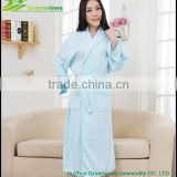 Bamboo fiber bathrobe long bamboo robes shawl collar robes ladies night robe bamboo night gown