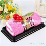 Creative Colorful Cake Towel Gift cotton solid color cake towel gift towel cake beach gift