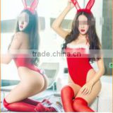 Wholesale Red Hot Girl Sexy Club LIngerie Dress Bunny Costume Hot Art Lingerie