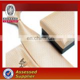 Silk woven necktie with packaging box